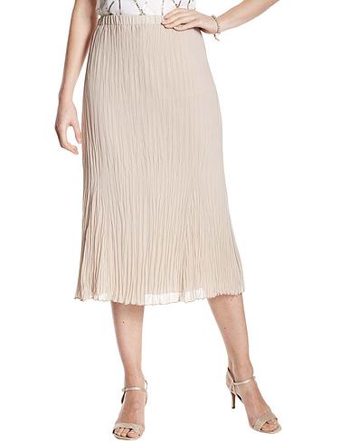 Crinkle Navy Skirt