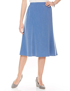Pull On Stretch Fabric Skirt