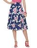 Floral Print Linen Mix Skirt