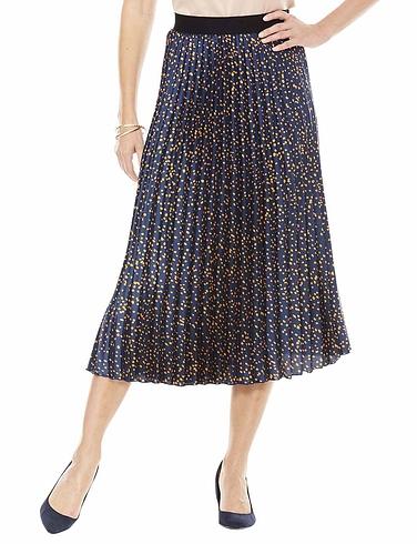 Permanent Pleat Print Skirt