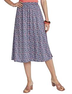 Print Elasticated Waist Skirt