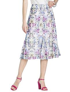 Print Lace Skirt