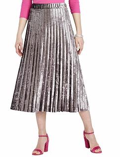Permanent Pleat Velour Knit Skirt