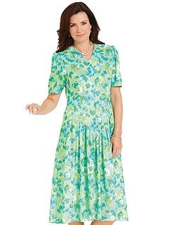 V-Necked Drop Waist Dress Length 40 Inches
