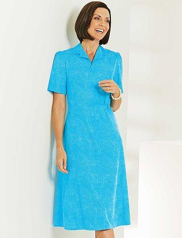 Emily Rose Zip Front Dress Length 43