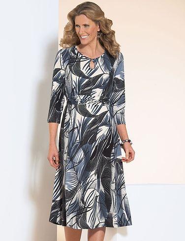 Keyhole Printed Dress Length 43