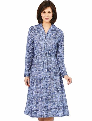 Zip Front Dress 40 Inch Length