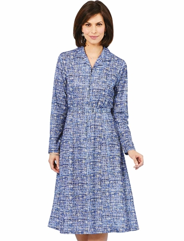 Zip front Dress 43 Inch Length