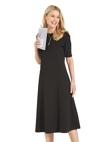 Texturted Jersey Dress