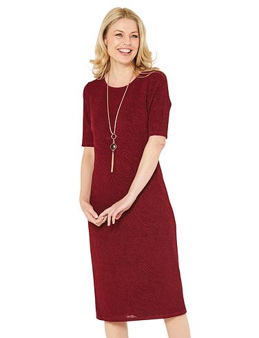 Glitter Jersey Dress