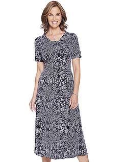 46 inch length Spot Print Dress