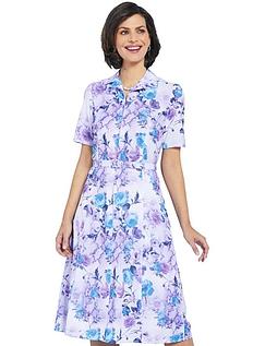 Zip Front Short Sleeve Dress