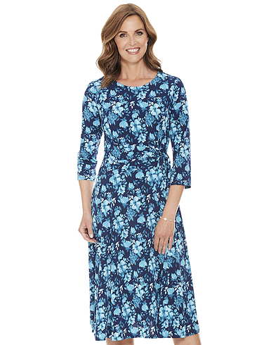 Side Tie 3/4 Sleeve Dress