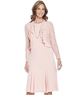 Lace Trim Dress and Bolero Set 43