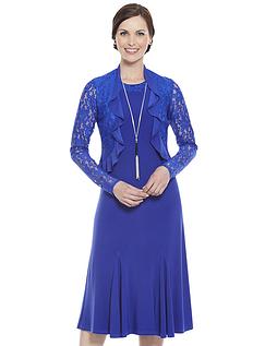 Lace Trim Dress and Bolero Set 43 Inches
