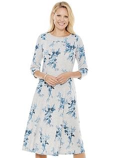 Warm Handle Print Dress