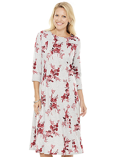 Warm Handle Print Dress