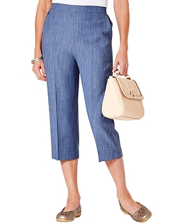 Linen Look Crop Trouser