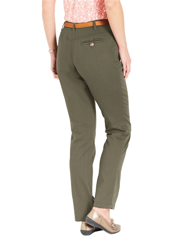 Chino Trouser And Tan Belt