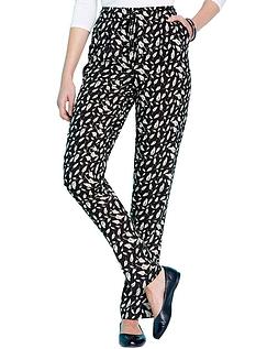Viscose Print Trousers