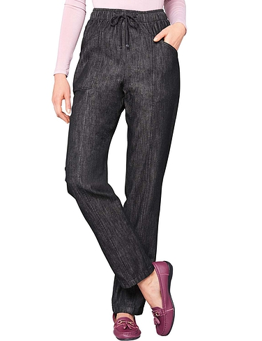 Ladies Elasticated Waist Pull On Jean