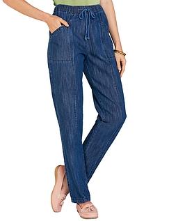 Ladies Elasticated Waist Pull On Jean