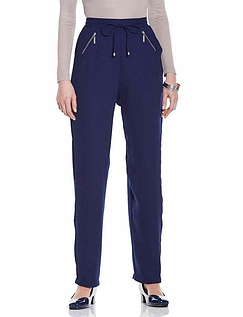 Crepe Zip Pocket Trouser