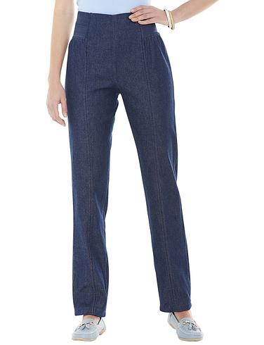 Side Elastic Panel Pull On Ladies Trousers
