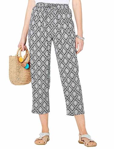 Viscose Crop Print Trouser