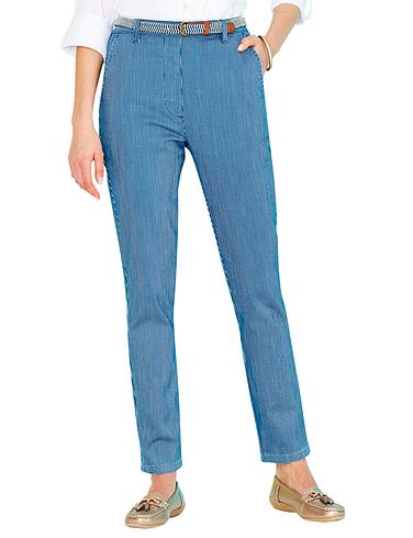 Stretch Stripe Print Chino Trouser
