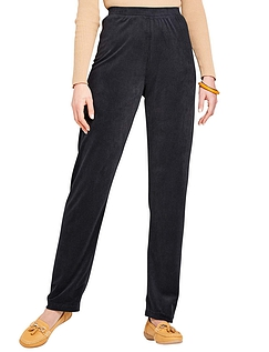 Pull on Knit Jersey Cord Trouser