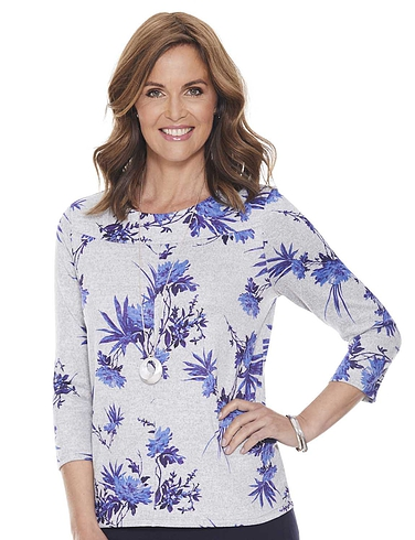 Warm Handle Floral Print Top