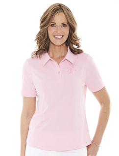 Ladies Embroidered Polo Top