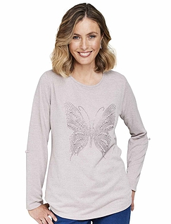 Knitted Butterfly Warm Handle Tunic Top