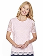 Lace Top With Scalloped Hem