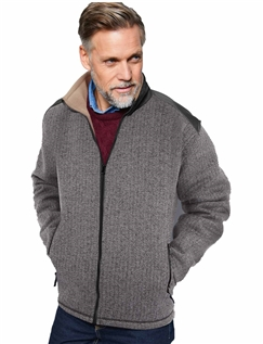 Herringbone Bonded Fleece Zipper