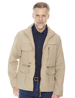 Pegasus Men's Lightweight Multi Pocket Travel Jacket