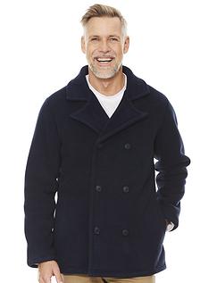Fleece Lined Reefer Jacket
