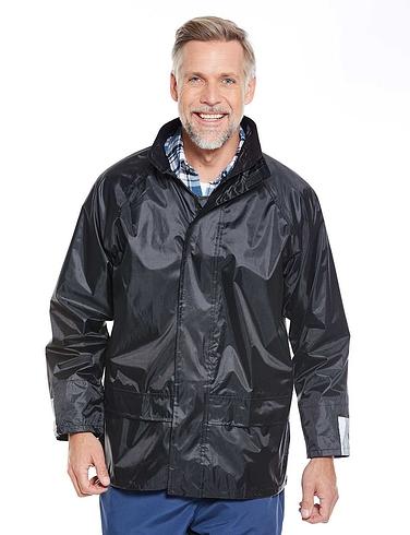 Waterproof Jacket with Free Waterproof Trousers - Black
