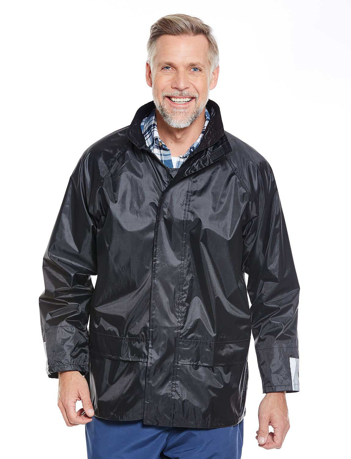 Waterproof Jacket with Free Waterproof Trousers - Black