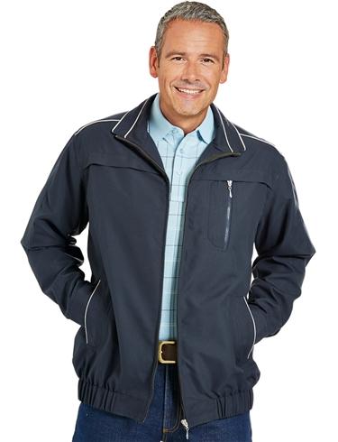 Soft Touch Microfibre Blouson Jacket