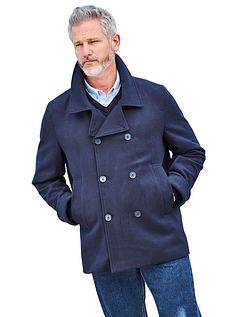 Mens Wooltouch Reefer Jacket