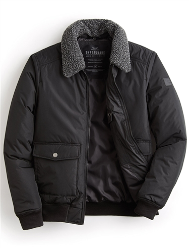 Flying Style Jacket With Borg Collar