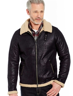 Mock Sheepskin Flying Jacket