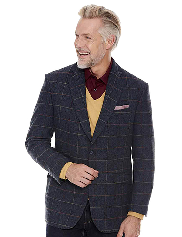 Tweed Sports Jacket - Navy