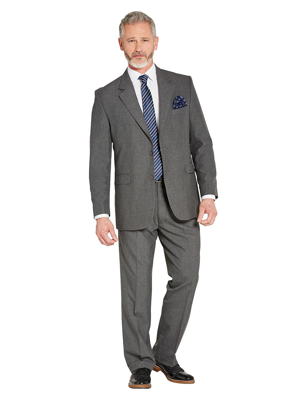 Mix & Match Suit Jacket in Teflon Coated Fabric - Grey