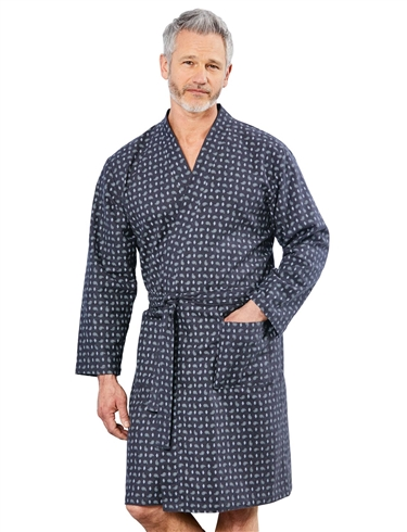 Paisley Print Dressing Gown