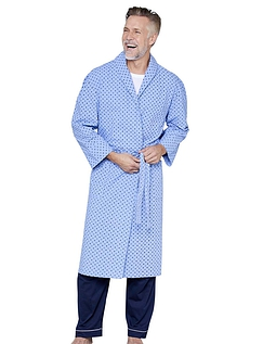 Tootal Men's Shawl Collar Printed Design Dressing Gown