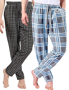 Two Pack Thermal Fleece Knitted Lounge Pants