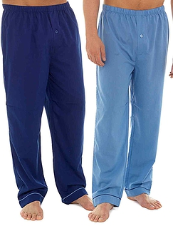 Mens Two Pack Poly Cotton Lounge Pants